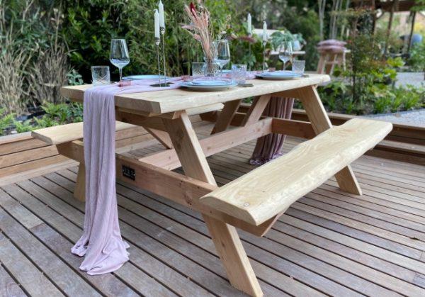 Picknicktafel kopen - sterke Picknicktafel - Douglas houten tafel