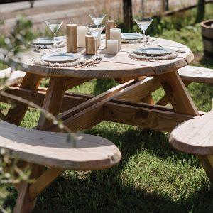 Picknicktafel kopen - Ronde picknicktafels - Detroit - 123picknicktafel - Douglas tafel