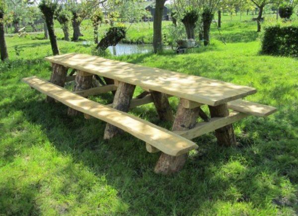Douglas houten Picknicktafel 400 cm - Picknicktafel kopen - stevige Picknicktafel